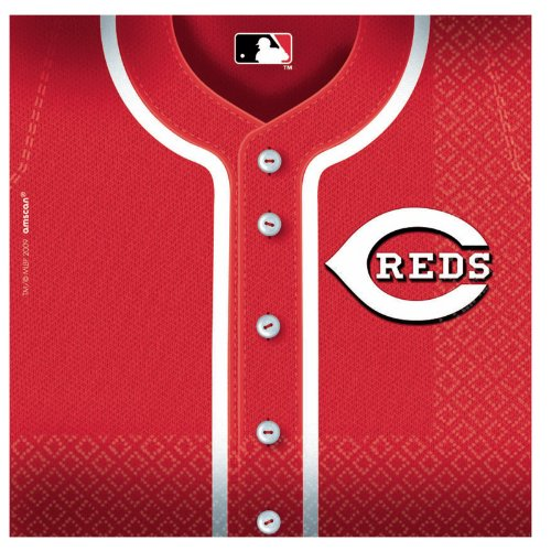 Cincinnati Reds Baseball - Lunch Napkins Party Accessory