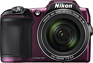 Nikon COOLPIX L840 16.0-Megapixel Digital Camera with 76x dynamic fine zoom, 38X optical zoom VR lens (4.0-152mm) and built-in WiFi - Plum (Certified Refurbished)
