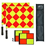 AGORA Pro Line Duo Premium Rotating Soccer Referee Flags with Case