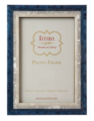Eccolo Made in Italy Marquetry Wood Frame, Studio Blue Wood, Holds an 8 x 10-Inch Photo (Frames Italian compare prices)