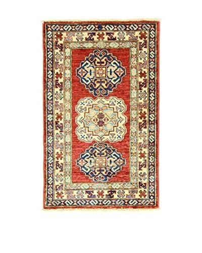 Eden Carpets Alfombra Kazak Super Rojo/Multicolor 88 x 55 cm