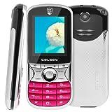 Pggpo CALSEN 7388 Flashlight Bluetooth FM function Music Mobile Phone Dual SIM GSM NetworkMagenta
