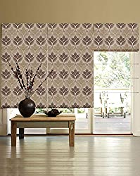 PRESTO BAZAAR 1 Piece Polyester Abstract Blind - Brown