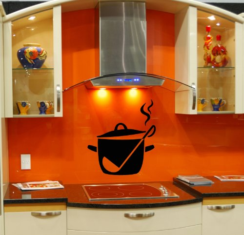 Wall Vinyl Decal Sticker Art Design Illustration Of Cooking Pan Room Nice Picture Decor Hall Wall Chu538