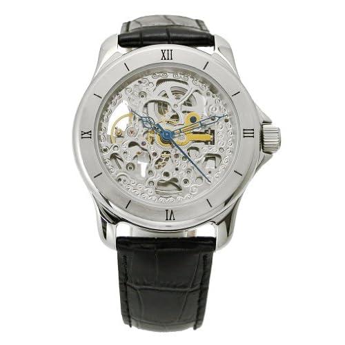 アルカフトゥーラ  ARCA FUTURA 腕時計 機械式自動巻き メンズ・牛革ベルト(ブラック) 297SKBK