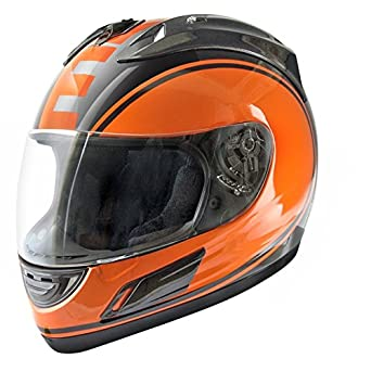 CASQUE INTEGRAL TNT MERACK2 NOIR/ORANGE XS