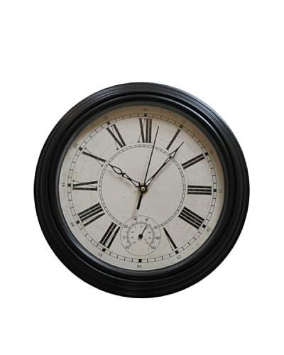 Reloj Aro Plata Negro