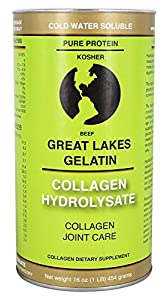 Great Lakes Gelatin, Collagen Hydrolysate, Beef, Kosher, 16 oz