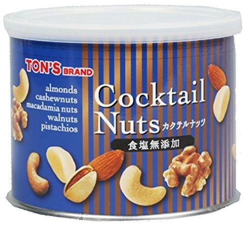 東洋ナッツ 無添加カクテルミックスナッツ缶 200g