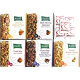 Kashi CHEWY Granola Bars Variety Pack Bundle of 5 Flavors + Sanitizing Hand Wipes: Trail Mix; Chocolate Almond and Sea Salt; Honey Almond Flax; Peanut Peanut Butter; Dark Mocha Almond. Care Package, Gift