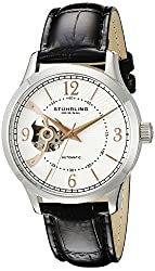 Stuhrling Original Men's 987.01 Legacy Analog Display Automatic Self Wind Black Watch