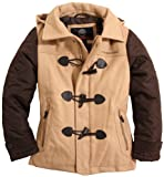 Weatherproof Boys Diamond Quilted Toggle Front Wool Blend Hooded Coat
