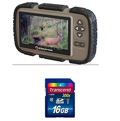 "Stealth Cam SD Card Reader and Viewer with 4.3"" LCD Screen +"