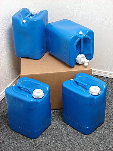 5 Gallon Samson Stackers, Blue, 4 Pack