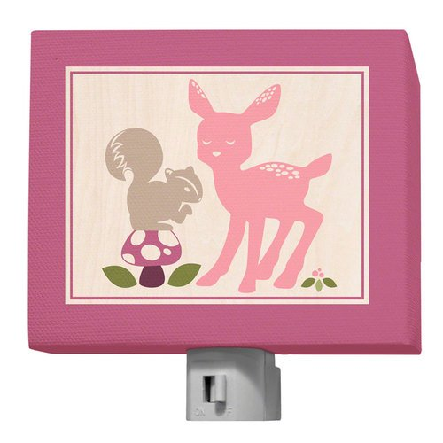 "Oopsy Daisy Enchanted Forest Night Light, Best Friends, 5"" x 4"""