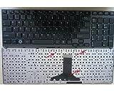 Black Laptop Keyboard UK for Toshiba Satellite A660 A660-11m A660-148 A660-149 A660-14C A660-15T A660-17E A660-17T A660-18N A660-1DW A660-1DZ A660-1FH A660-1FM A660-1H6 A660-1H7 A665 A665-11Z A665-14Q A665-14R, fits 9Z.N4YGC.10U NSK-TQ1GC PK130CX1C04