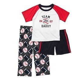 Carters 3-pc. Team Daddy Sports Pajama Set WHITE 24 Mo