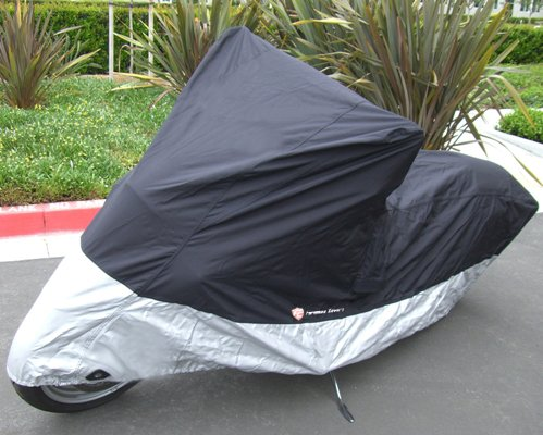 "Heavy Duty Motorcycle cover (L). Fits up to 84"" length sport bike, dirt bike, small cruiser."