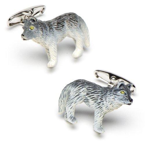 Enamel Wolf Cufflinks