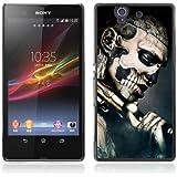 iKiki-Tech H�lle Etui Case Cover f�r Sony Xperia Z L36H - Gothic Skull Tattoo