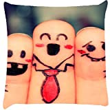 Snoogg Beautiful Finger Painting Cushion Cover Throw Pillows 16 X 16 Inch