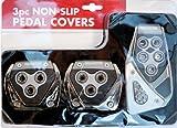 3pc Non Slip Car Pedal Cover/Non Slip Foot Break Clutch Gas Pedal Cover Grey