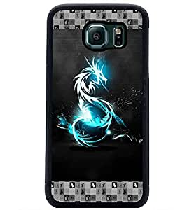PrintDhaba Digital Dragon D-5696 Back Case Cover for SAMSUNG GALAXY S6 (Multi-Coloured)