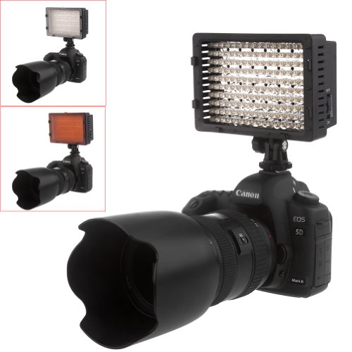 NEEWER® 160 LED CN-160 Dimmable Ultra High Power Panel Digital Camera Camcorder Video Light - LED Light for Canon - Nikon - Pentax - Panasonic - SONY - Samsung and Olympus Digital SLR Cameras
