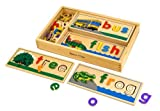 Melissa & Doug See & Spell Wooden Educational Toy With 8 Double-Sided Spelling Boards and 50 Letters