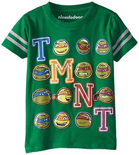 Teenage Mutant Ninja Turtles Little Boys' TMNT Turtle Faces T-Shirt