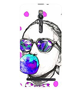 printtech girl with Bubble Gum Back Case Cover for Asus Zenfone 2::Asus Znfone 2 ZE550ML