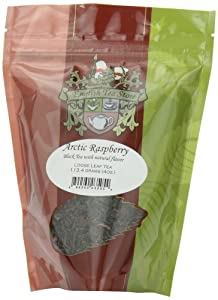 English Tea Store Loose Leaf, Arctic Raspberry Naturally flavored Black Tea Pouches, 4 Ounce
