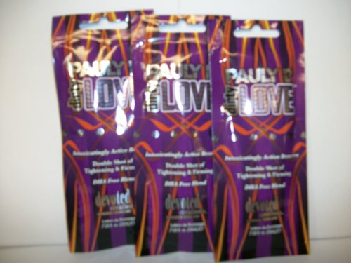 3 Packets Pauly D Dirty Love Active Bronzer 2Xtightening & Firming .7Oz