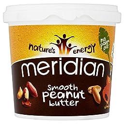 Meridian Natural Smooth Peanut Butter No Added Sugar & No Added Salt (1Kg)