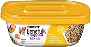 Purina Beneful Wet Dog Food, Chopped Blends, Chicken Liver, 10-Ounce Tub, Pack of 8