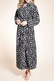 Animal Print Shawl Collar Dressing Gown [T37-2759-S]