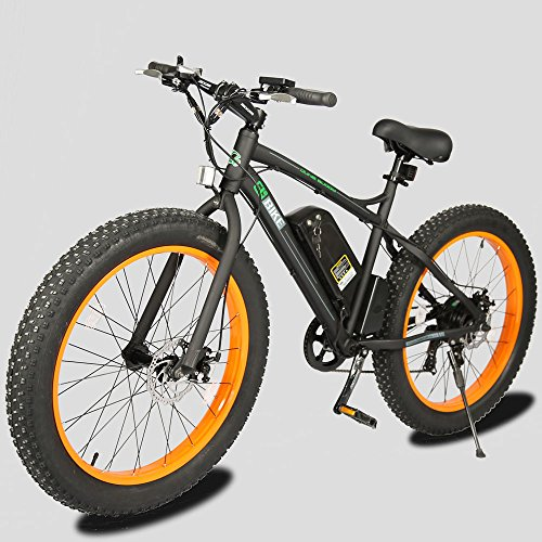 26-New-Electric-Fat-Tire-Bike-Beach-Snow-Bicycle-ebike-48v-500w-BlackOrange-2016-electric-moped
