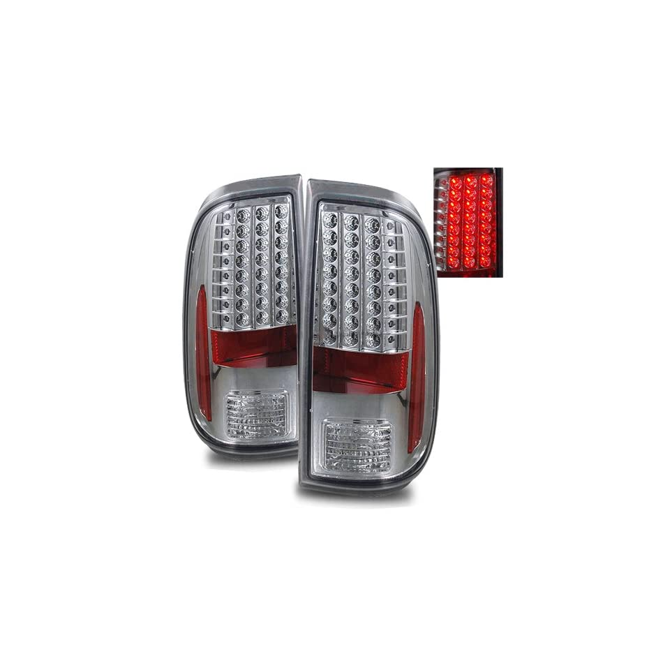 08 11 Ford Super Duty Chrome LED Tail Lights