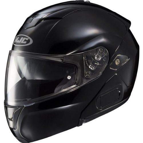 HJC Solid Men's Sy-Max III Street Racing Motorcycle Helmet – Black / Large