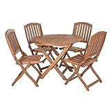 Sienna Garden Furniture Round Set For 4 with Wooden Chairs