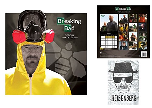 Set: Breaking Bad, Calendario Ufficiale 2017 (30x30 cm) E 1x Cartolina Postale (15x10 cm)