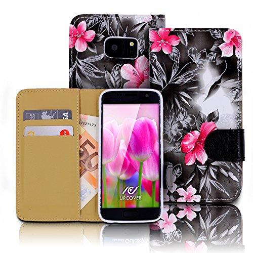 urcoverr-floreal-wallet-samsung-galaxy-s7-housse-portefeuille-fleurs-dessins-in-noir-etui-elegant-pr