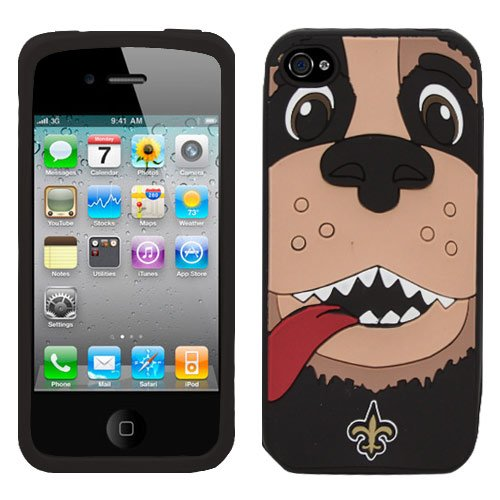 NFL New Orleans Saints Mascot Soft Iphone Case,Fits Iphone 4 and 4s at Amazon.com