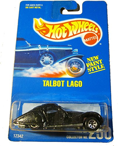 #250 Talbot Lago Black 7-Spokes Collectible Collector Car Mattel Hot Wheels