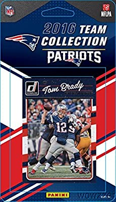 New England Patriots 2016 Donruss NFL Football Factory Sealed Limited Edition 13 Card Complete Team Set with TOM BRADY, Rob Gronkowski, Steve Grogan & Many More! Shipped in Bubble Mailer!