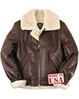 Genuine Sheepskin (Shearling) B-3 Bomber Jacket Made in USA
