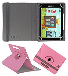 Acm Rotating 360° Leather Flip Case For Lenovo Cg Slate Grade 3-5 Tablet Cover Stand Light Pink