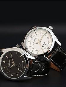 buy Aidu New Man'S High Quality Leather Belt Japanese Quartz Waterproof Watch , Black