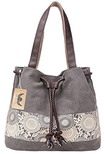 pb-soar-womens-ladies-fashion-casual-canvas-drawstring-handbag-tote-bag-shoulder-bag-grey