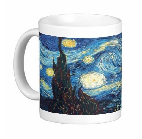 Pair Of 15 Ounce Starry Night Mugs - Dishwasher And Microwave Safe